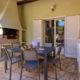 Vue terrasse villa location Palombaggia